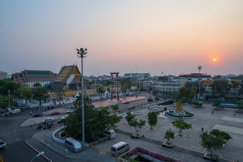 Das riesige Schwingen, nannte Sao Ching Cha während der Nachtzeit stockbild