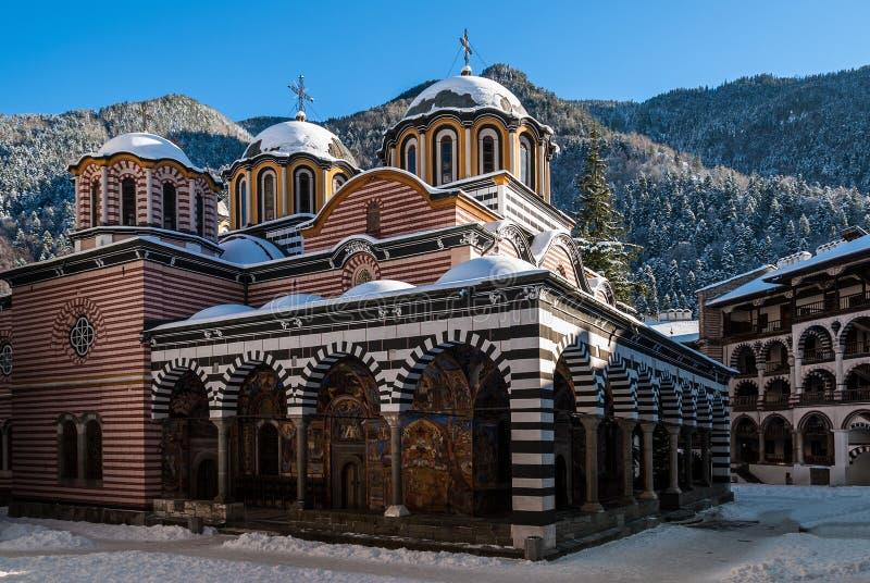 Das Rila-Kloster in Bulgarien lizenzfreies stockfoto