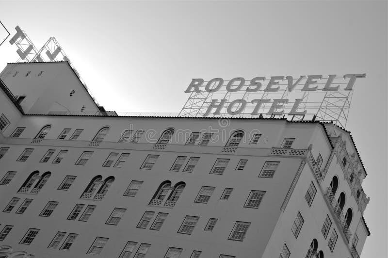 Das Roosevelt, Hollywood stockbild