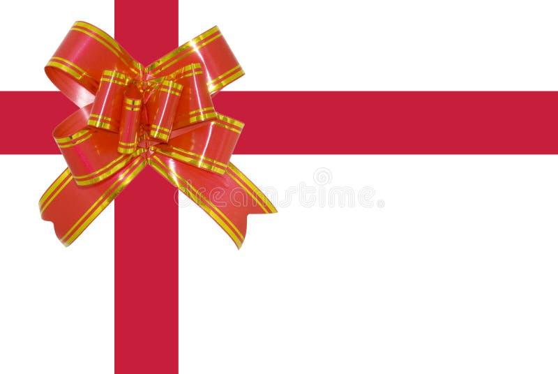 Das rote Geschenkband stockbild