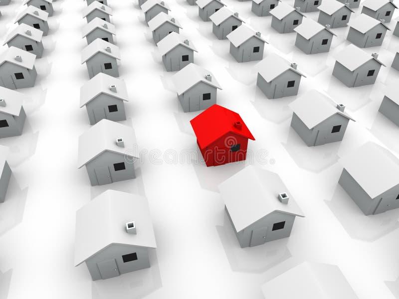 Das rote Haus stock abbildung