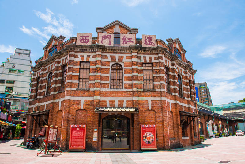 Das rote Haus in Ximending von Taipeh lizenzfreie stockfotografie