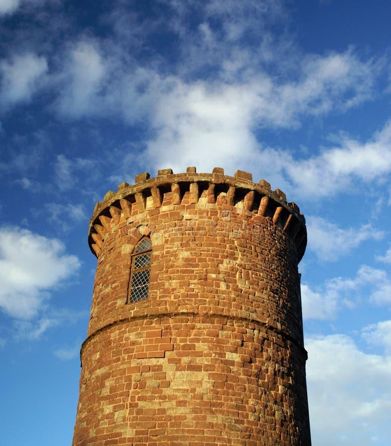 Das runde Gazebo-Turm-Palast-Pfund, Ross-auf-Ypsilon, Herefordshire, Vereinigtes Königreich - 2. Dezember 2007 lizenzfreies stockbild
