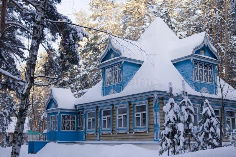 das russische haus im winter stockfoto bild 14107504. Black Bedroom Furniture Sets. Home Design Ideas