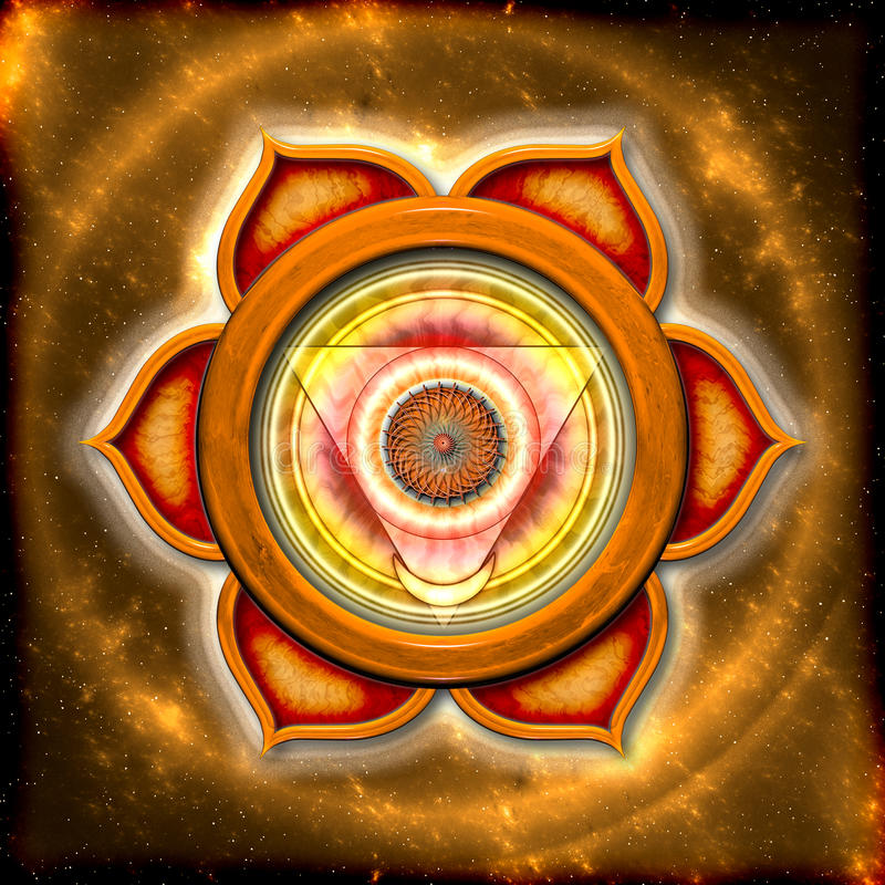 Das sakrale Chakra lizenzfreie abbildung