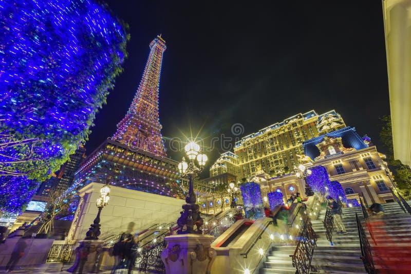 Das schöne Gebäude Pariser Macaus stockfotos