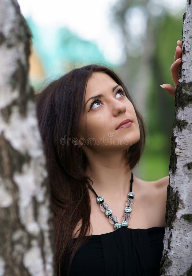 Das schöne Mädchen stockfotografie