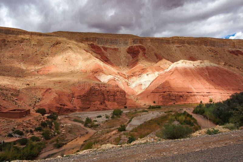 Das sch?ne Rose Valley- - Vallee-DES-Rosen, nahe Ouarzazate, Marokko lizenzfreies stockbild
