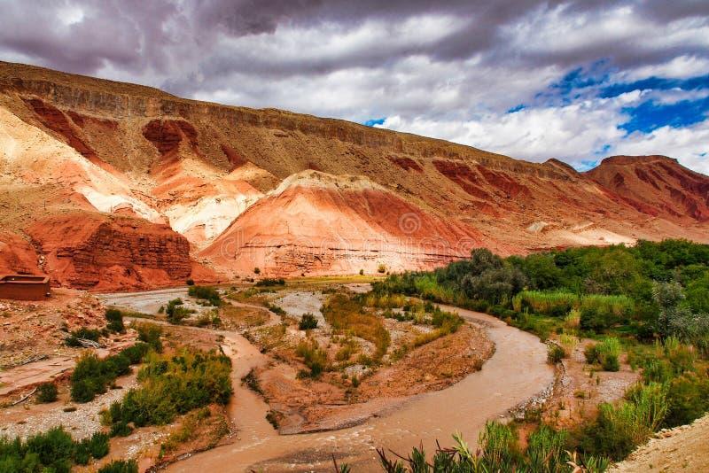 Das sch?ne Rose Valley- - Vallee-DES-Rosen, nahe Ouarzazate, Marokko lizenzfreie stockfotografie