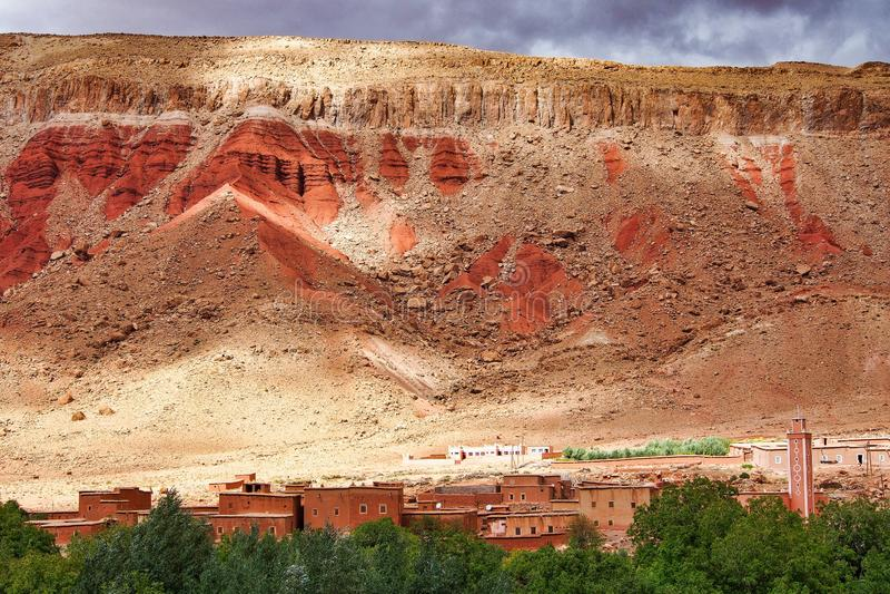 Das sch?ne Rose Valley- - Vallee-DES-Rosen, nahe Ouarzazate, Marokko stockbilder