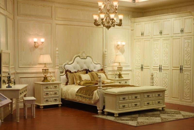 Das Schlafzimmer lizenzfreies stockbild