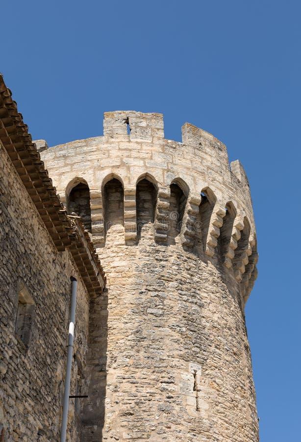 Das Schloss in Gordes, Vaucluse-Abteilung, Provence-Region, stockfotos