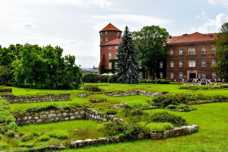 Das Schloss in Krakau Polen stockfotografie