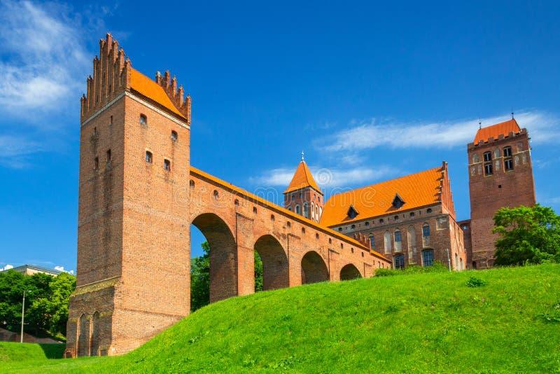 Das Schloss und die Kathedrale in Kwidzyn, Polen stockfotos