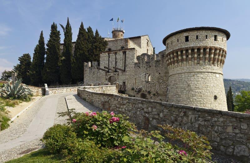 Das Schloss von Brescia stockfotografie