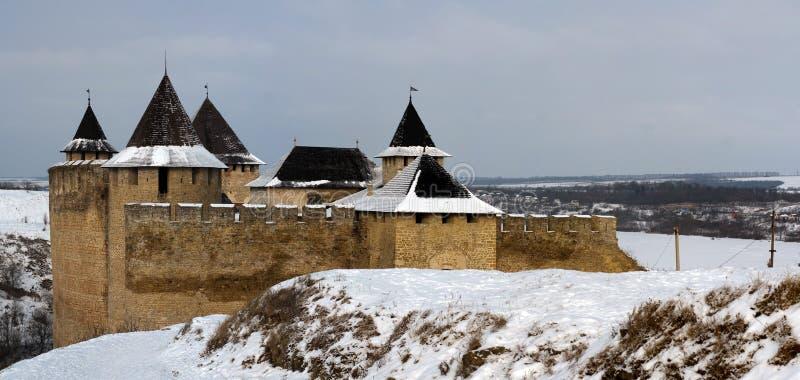 Das Schloss von Hotin lizenzfreies stockbild