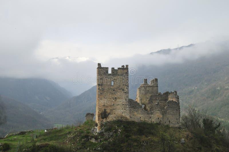 Das Schloss von Miglos stockfotografie