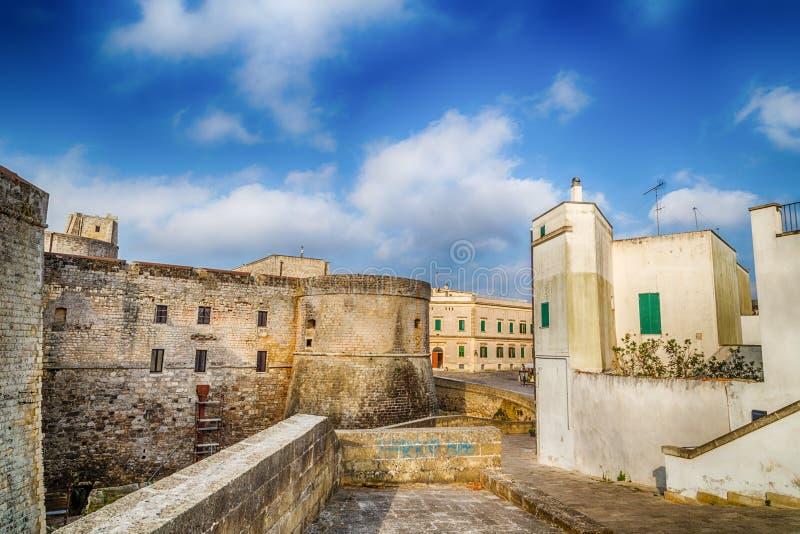 Das Schloss von Otranto stockbilder