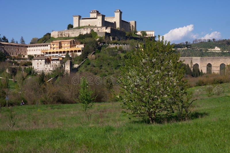 Das Schloss von Spoleto lizenzfreie stockfotografie