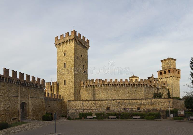 Das Schloss von Vigoleno stockfotos