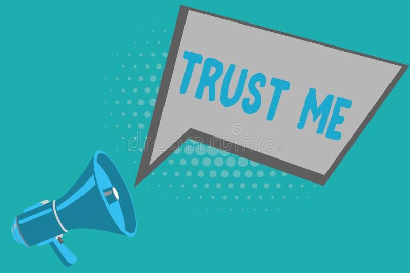 Das Schreibensanmerkungsdarstellen vertrauen mir Das Geschäftsfoto, das Believe zur Schau stellt, haben Glauben in anderer zeigen vektor abbildung