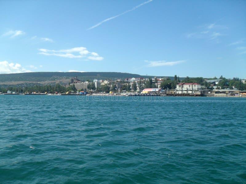 Das Schwarze Meer in Feodosia lizenzfreies stockbild