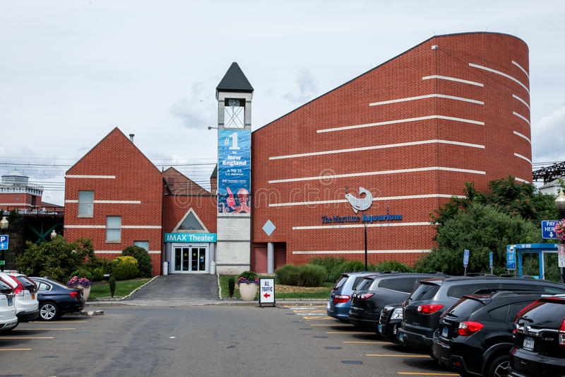 Das Seeaquariumgebäude stockfotos