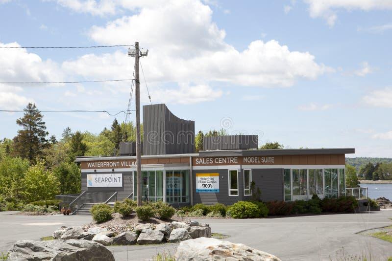 Das Seehafen-Wasser-Modell Home in Dartmouth an der Zeitschriftenlandung stockfoto
