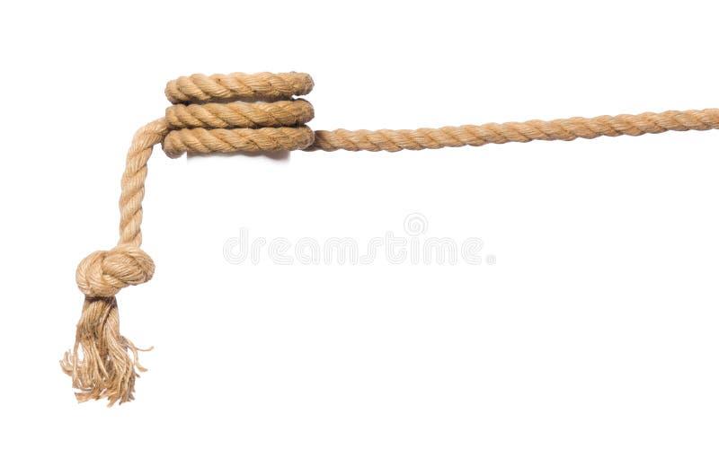Das Seil auf dem weißen Hintergrund lizenzfreie stockfotografie