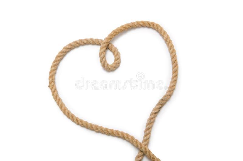 Das Seil in Form des Herzens lizenzfreie stockfotografie