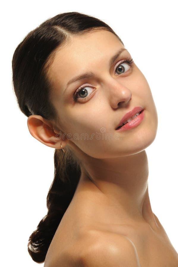 Das sexuelle Mädchen. Eine Portraitnahaufnahme lizenzfreies stockfoto