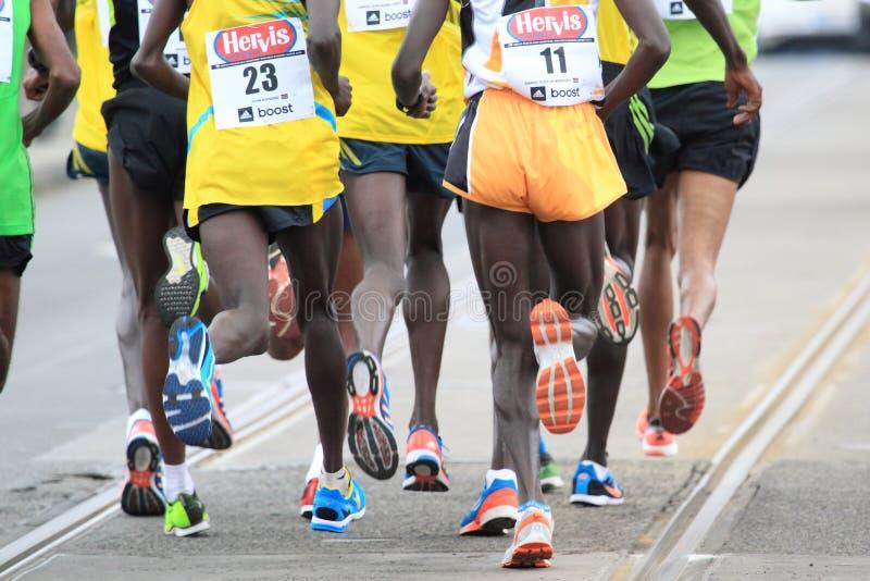 Halbmarathon ausführlich Prag stockfotos