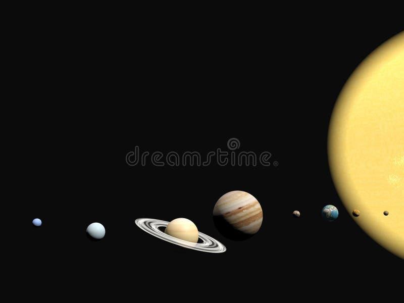 Das Sonnensystem, abstact Darstellung. stock abbildung