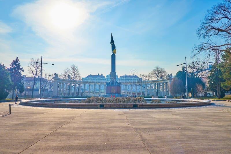 Das sowjetische Kriegs-Denkmal in Wien, Österreich stockbild