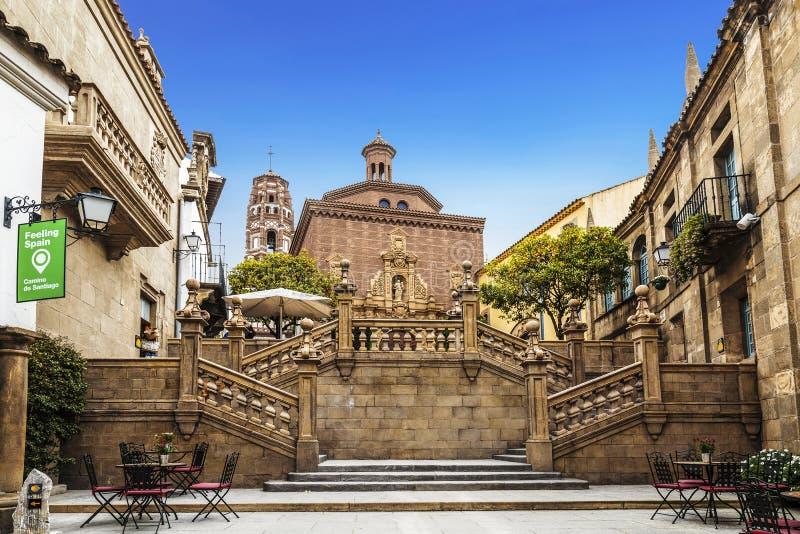 Das spanische Dorf in Barcelona ist ein Freiluftmuseum Katalonien, lizenzfreies stockfoto