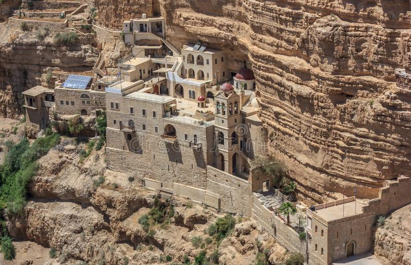 Das St. George Orthodox Monastery, Israel lizenzfreies stockbild