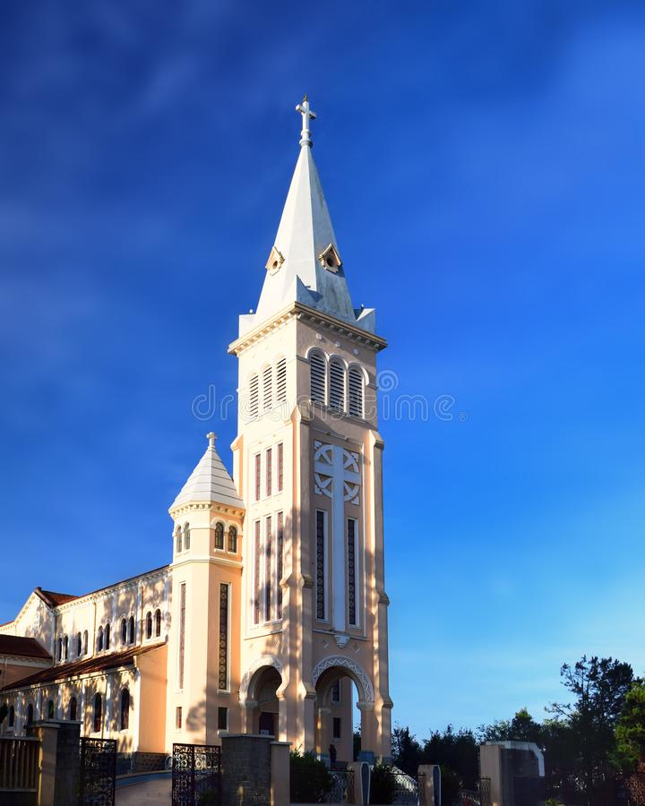 Das St. Nicholas Cathedral Dalat Cathedral oder Hühnerkirche lizenzfreies stockfoto