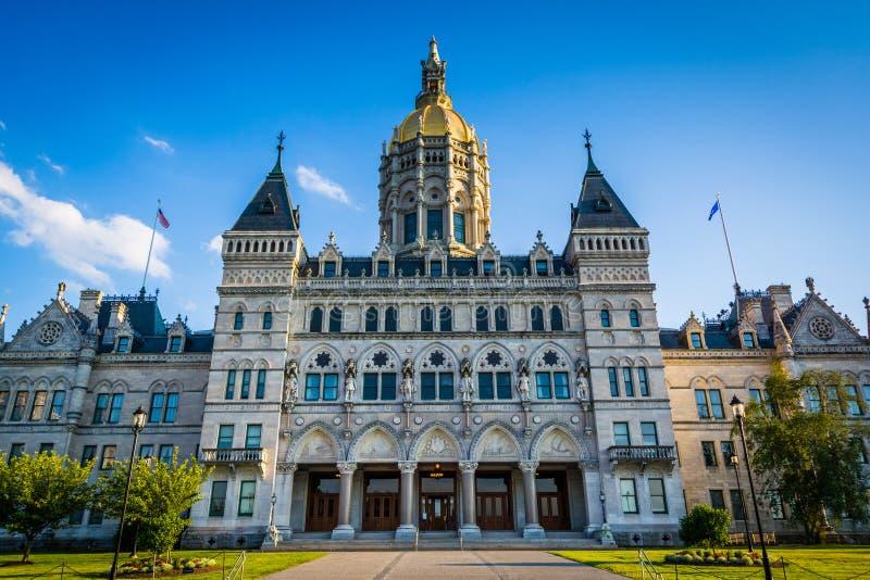 Das Staat Connecticut-Kapitol-Gebäude in Hartford, Connecticut lizenzfreie stockfotografie