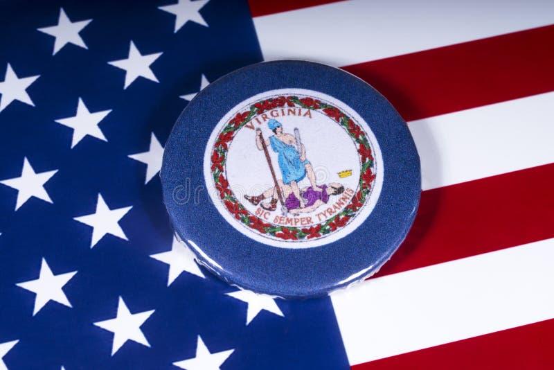 Das Staat Virginia in den USA lizenzfreies stockbild
