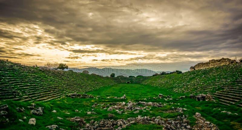Das Stadion alter Stadt Aphrodisias Afrodisias in Caria, Karacasu, Aydin, die Türkei Aphrodisias wurden nach Aphrodite genannt stockfoto