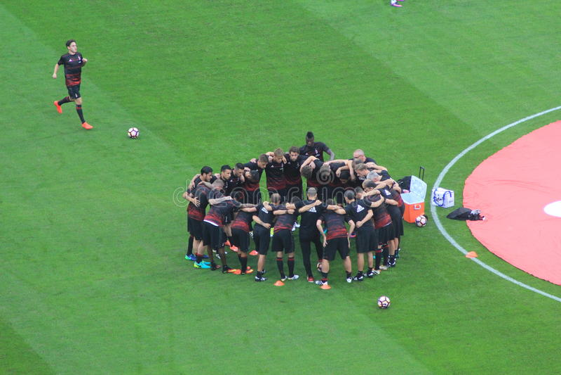 Das Stadion Stadio Giuseppe Meazza in Mailand, Italien lizenzfreies stockbild