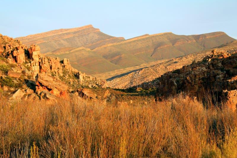 Das Stadsaal höhlt Landschaft im Cederberg, Südafrika aus lizenzfreies stockbild