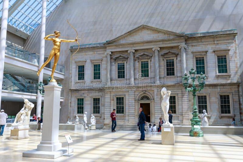 Das Stadtkunstmuseum, das in New York City gelegen ist, ist das größte Kunstmuseum in den Vereinigten Staaten und in der der größ stockfoto