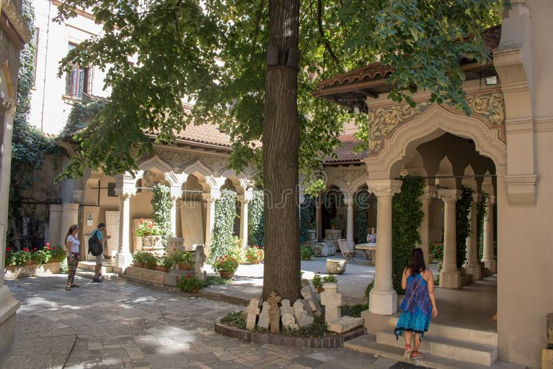 Das Stavropoleos-Kloster stockbilder