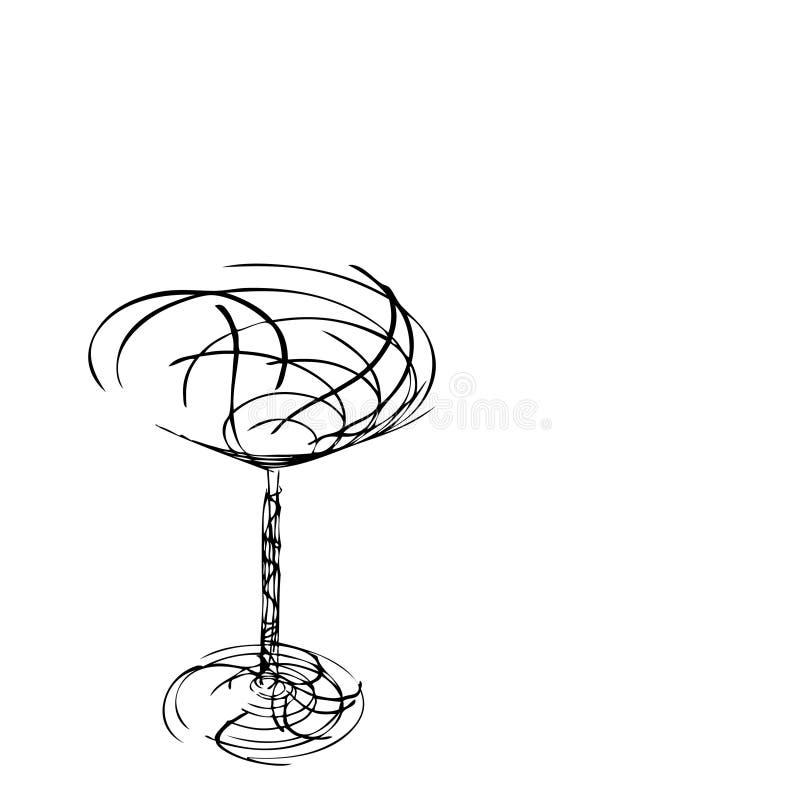Download Das stilisiert Weinglas vektor abbildung. Illustration von form - 9091605