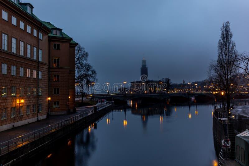 Das Stockholm-Rathaus lizenzfreie stockfotos