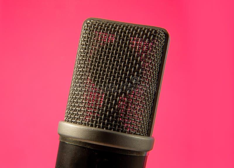 Das Studiomikrofon lizenzfreies stockbild