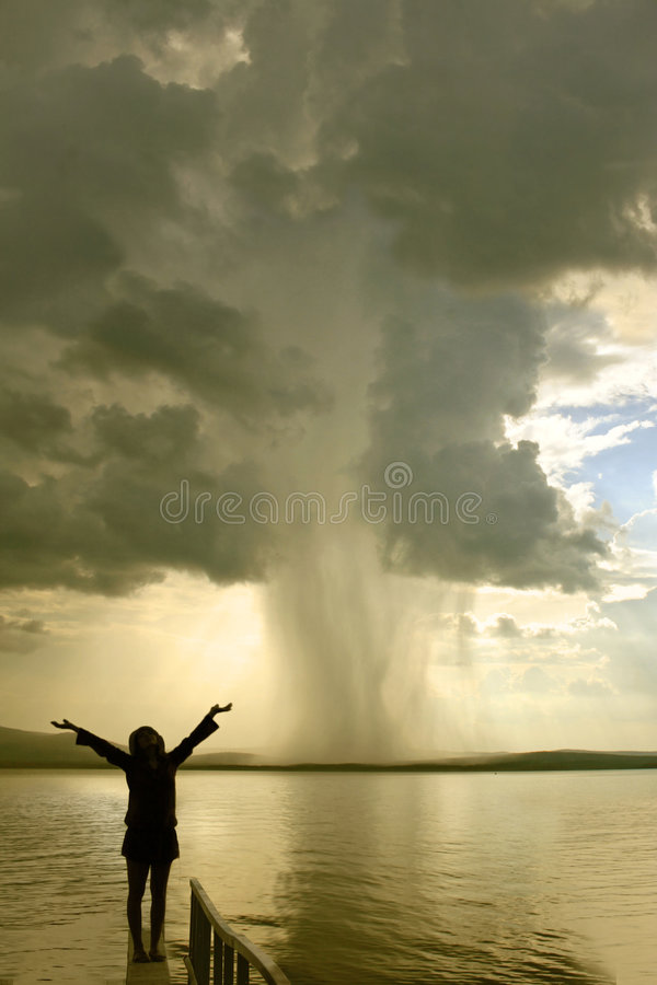 Das Sturmmädchen stockbild