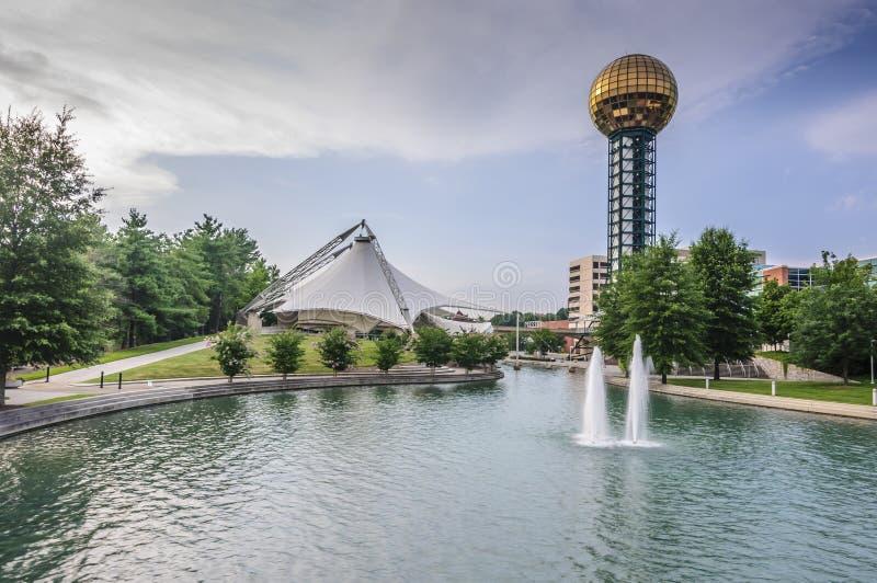 Das Sunsphere, in Knoxville, Tennessee lizenzfreie stockfotos