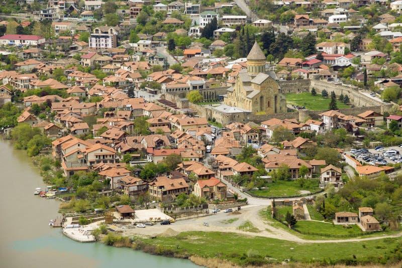 Das Svetitskhoveli-Kloster Mtskheta georgia Mtskheta ist die alte Hauptstadt von Georgia, von seiner kulturellen und historischen stockbilder